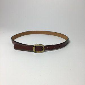 Levi's Brown Vintage Leather w/ Brass Buckle Belt